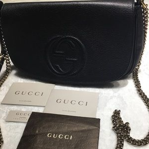 Gucci Bags - Gucci Soho Tassel Chain Leather Bag